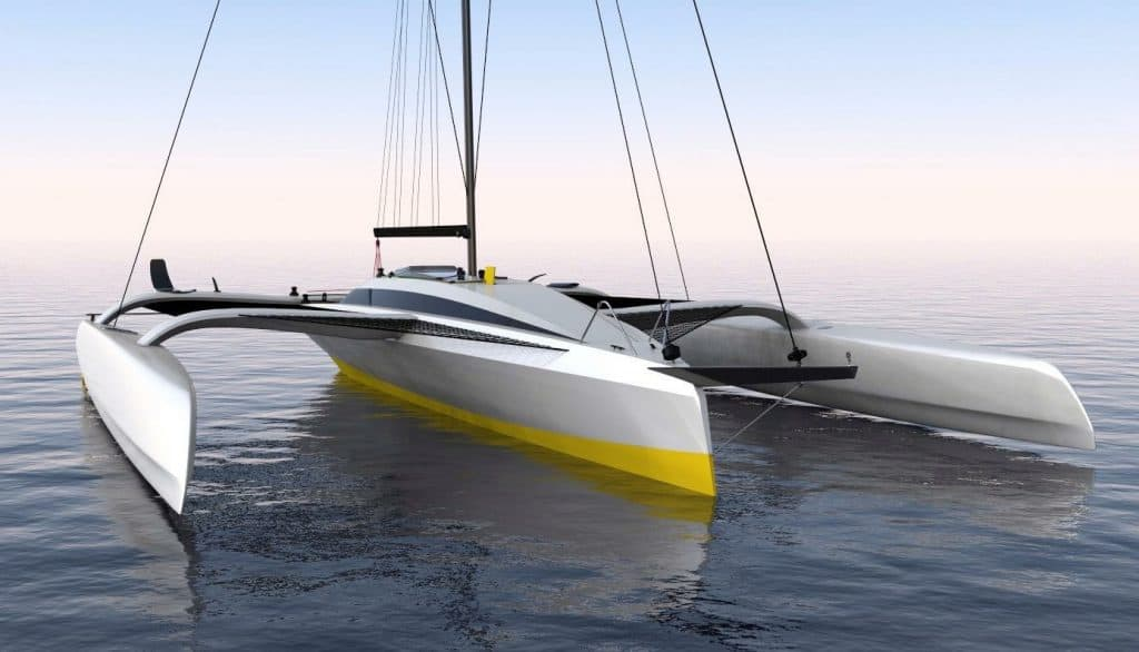 Boat Works is brewing a stunning new build - Carbon Trimaran
